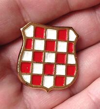 CROATIA ARMY - HOS - Their cap badge from 1991 marked CROATIA with COA on back