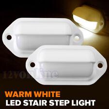 2led Rv Boat Courtesy Light 12v Marine Trailer Stair Garden Yard Lamp Warm W
