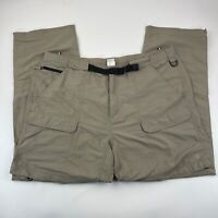 The North Face Paramount Active Convertible Pants Shorts Mens XXL Belted Khaki