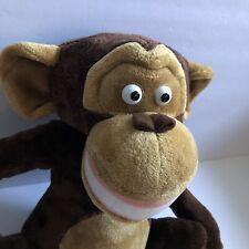 "DREAMWORKS MADAGASCAR 16"" MASON CHIMPANZEE MONKEY CHIMP PLUSH STUFFED ANIMAL-EUC"