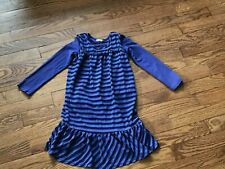 Toddler Girls Ella Moss Purple Stripe Dress Size 4T