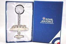 WW2 Battle of BRITAIN Famous Silver Royal Air Force LANCASTER Plane w/ Key-Ring