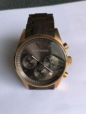 Armani AR 5891 Edelstahl Silikonarmband Rotgold Braun