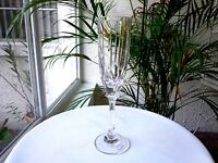 Premium Quality Clear Crystal Champagne Flute Unbranded