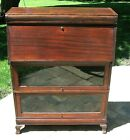 ANTIQUE MAHOGANY BARRISTER STACKING LAWYER'S SECTIONAL SECRETARY BOOKCASE