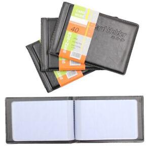 Business Men Women PU Leather Wallet  ID Credit Card Holder Book Case Bag Black