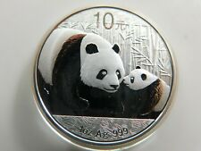 China 10 Yuan 2011 Panda 1oz Silbermünze ST👌(D14