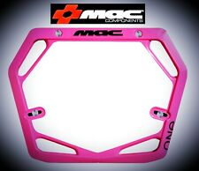 Mac One Race Mode Pro Bmx Number Plate - Hot Pink