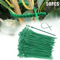 CW/_ 50 Pcs 17cm Reusable Garden Plastic Plant Cable Ties Tree Climbing Support D