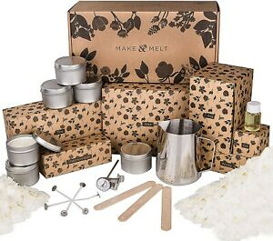 MAKE&MELT Candle Making Kit for adults with Soy Wax