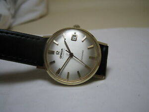 OMEGA  SEAMASTER  DEVILLE  AUTOMATIC DATE 14K SOLID YELLOW GOLD 1961 WATCH