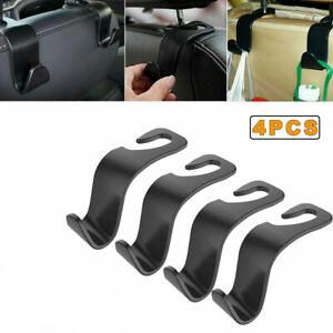 4x Car Seat Back Headrest Hooks Hanger Holder Hook for Bag Purse Cloth Grocery