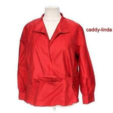 NWT $338.00 NEW ELLEN TRACY 22W 1X 2X RED SILK POLY WRAP BLOUSE TOP SATIN GIFT