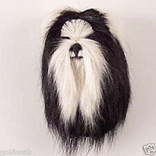 (1) SHIH TZU B/WHITE DOG MAGNET! Very realistic collectible fur Magnets.