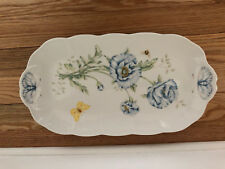 Lenox BUTTERFLY MEADOW Hors D'oeuvre Bread Sandwich Tray Oblong NEW with Tag