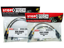 Stoptech Stainless Steel Braided Brake Lines (Front & Rear Set / 35005+35500)