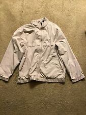 Ahead Acare Beige Long Sleeve Golf Windbreaker Jacket Size M