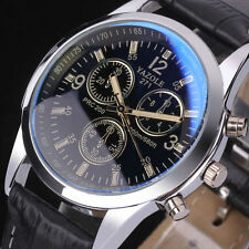 Para Hombre Reloj Cuero Acero Inoxidable Militar Sport Reloj De Pulsera Watches