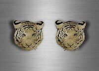 2x sticker car decal biker tuning tiger head animal tigers jdm room wall