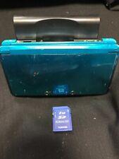 Nintendo 3DS Aqua Blue Handheld Console Memory Card 2GB Test ok JAPAN