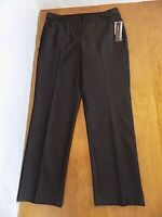 NEW $56 Dana Buchman Women's Black Tie Dress Career Pants Sz 10 Sparkly Black