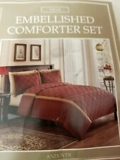 Sunham Twin Embellished 2 Pc Comforter Set Red