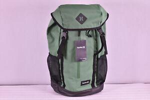 Hurley Daley Large Multipocket Backpack, Green / Black