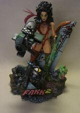 Película merchandise heavy metal FAKK 2 Julie Strain personaje con diorama
