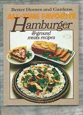 Better Homes & Gardens HAMBURGER Ground Meats recipes COOK BOOK Cookbook SO GOOD