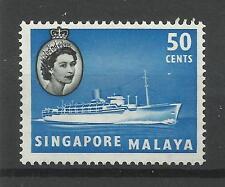 Singapour 1955/9 SG 49, 50 C Bleu & Noir LM/M [1031]
