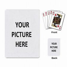 Poker Cards Game Playing Card Deck Custom Personalized YOUR PICTURE PHOTO LOGO
