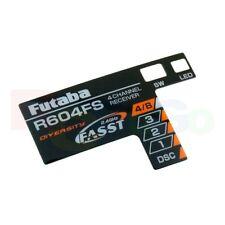 FUTABA R604FS RECEIVER STICKER LABEL (1PC) 7A43405