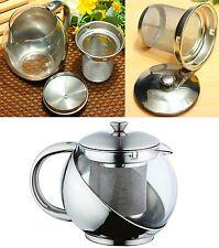 Teekanne 0,75 L Teezubereiter mit Edelstahlhalter + Teesieb Kanne Teekocher NEU
