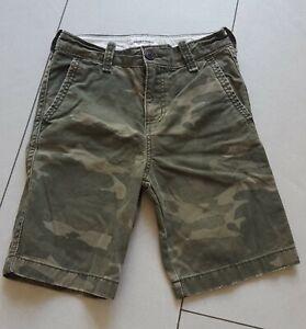 VGC abercrombie boys khaki camo shorts size 12