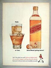 Johnnie Walker Scotch Whiskey PRINT AD - 1962 ~~ Johnnie Red