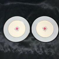 "Pair of Vintage FLINTRIDGE China Miramar Platinum Trim 6-1/4"" Bread Plates"