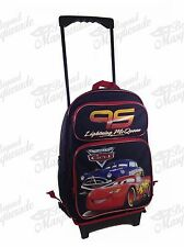 "16"" Lightning McQueen Cars Backpack Teen Boys Large Rolling Backpack"