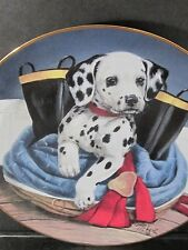 Princeton Gallery 1993 PUP IN BOOTS Dalmatian Fire Boots  Ltd Ed Plate
