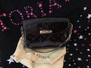 Authentic Louis Vuitton Vernis patent Hand  bag purse rodeo drive clutch
