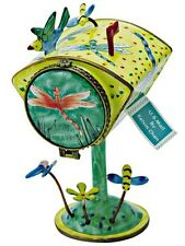 Kelvin Chen Enamel Tall Hand paint Copper Stamp Dispenser - Dragonfly