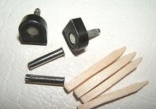 "PAIR 7/16"" 10.8mm 115 pin BLACK METAL STILETTO SHOE TOPS TIP TUBE KIT HIGH HEEL"