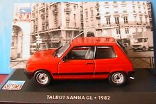 SIMCA TALBOT SAMBA GL DE 1982 IXO ALTAYA 1/43 ROUGE RED