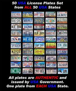 COMPLETE 50 USA LICENSE PLATES SET UNITED STATES NUMBER TAG LOT DECOR BEST1 DEAL