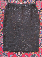 For Your Holiday Party! Sophisticated Ann Taylor LOFT Black Sequined Skirt 6 NWT