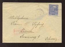 AUSTRIA 1915 BOXED CENSOR 25h SOLO COVER to SWITZERLAND ZURICH