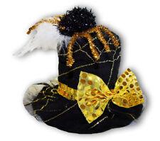 Hexenhut Zylinder Spider Spinnennetz Gold Damen Hexenkostüm Vampir %SALE%