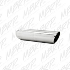 MBRP T5135 304 SS Round Angle Cut Weld-On Mirror Polished Exhaust Tip