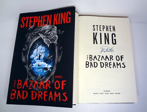 Stephen King Signed Autograph The Bazaar of Bad Dreams 1st Edition Book