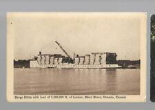 pk34249:Postcard- Barge Hilda With Load of Lumber,Blind River,Ontario