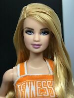 University of Tennessee Cheerleader Barbie Doll Uniform Blonde for OOAK Repaint